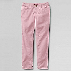 Lands' End - Pink girls' 5-pocket pencil leg cord jeans