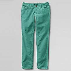 Lands' End - Green girls' 5-pocket pencil leg cord jeans