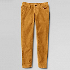 Lands' End - Gold girls' 5-pocket pencil leg cord jeans