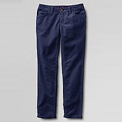 Lands' End - Blue girls' 5-pocket pencil leg cord jeans