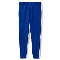 Lands' End - Girls' plain blue ankle length jersey leggings