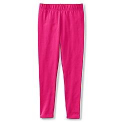 Lands' End - Girls' pink plain ankle length jersey leggings
