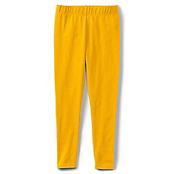 Lands' End - Girls' plain yellow ankle length jersey leggings