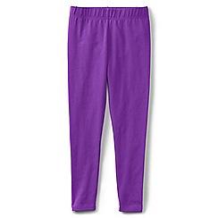 Lands' End - Girls' plain purple ankle length jersey leggings