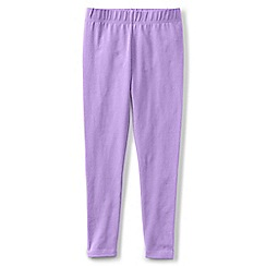 Lands' End - Girls' purple plain ankle length jersey leggings