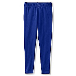 Lands' End - Girls' blue plain ankle length jersey leggings