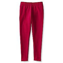 Lands' End - Girls' plain red ankle length jersey leggings