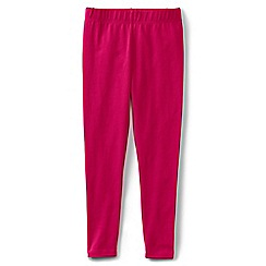 Lands' End - Girls' plain pink ankle length jersey leggings