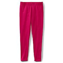 Lands' End - Girls' plain pink ankle length jersey leggings