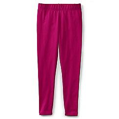 Lands' End - Pink girls' plain ankle length leggings