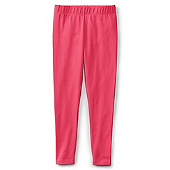 Lands' End - Pink girls' plain ankle length leggings