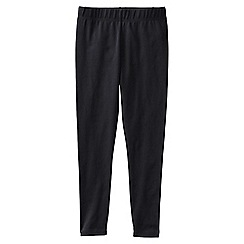 Lands' End - Black little girls' plain ankle length leggings