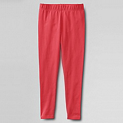 Lands' End - Orange little girls' plain ankle length leggings