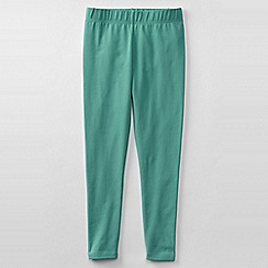 Lands' End - Green little girls' plain ankle length leggings