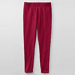 Lands' End - Pink little girls' plain ankle length leggings