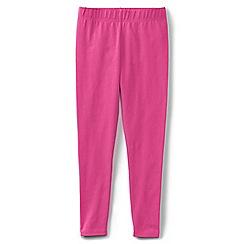 Lands' End - Girls' plain pink ankle length leggings