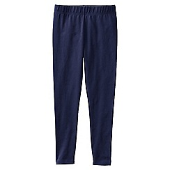 Lands' End - Blue little girls' plain ankle length leggings