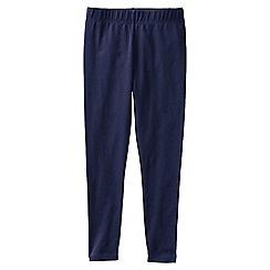 Lands' End - Blue little girls' plain ankle length leggings