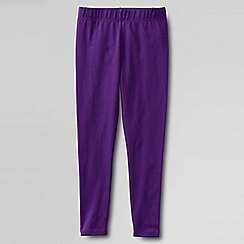 Lands' End - Purple little girls' plain ankle length leggings