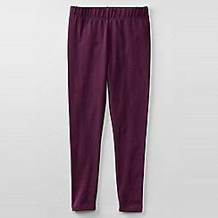 Lands' End - Purple little girls' plain ankle length leggings
