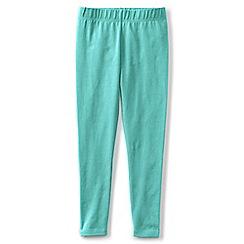 Lands' End - Girls' blue plain ankle length leggings