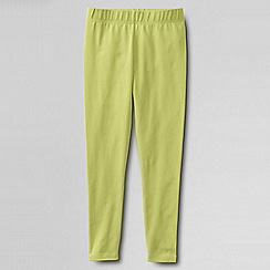 Lands' End - Green girls' plain ankle length leggings