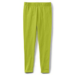 Lands' End - Girls' plain yellow ankle length leggings