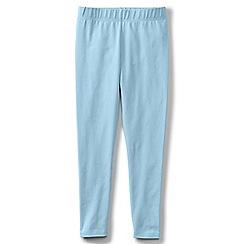 Lands' End - Blue girls' plain ankle length leggings