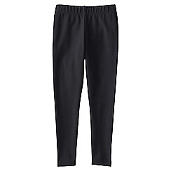 Lands' End - Black girls' plain ankle length leggings