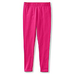 Lands' End - Girls' pink plain ankle length leggings