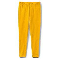 Lands' End - Girls' plain yellow ankle length leggings