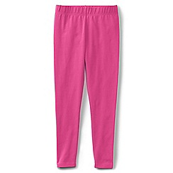 Lands' End - Girls' plain pink ankle length leggings