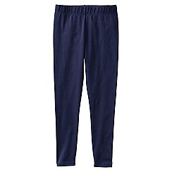 Lands' End - Blue girls' plain ankle length leggings