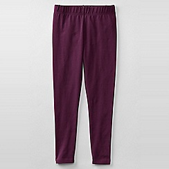 Lands' End - Purple girls' plain ankle length leggings