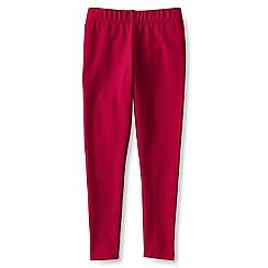 Lands' End - Red girls' plain ankle length leggings