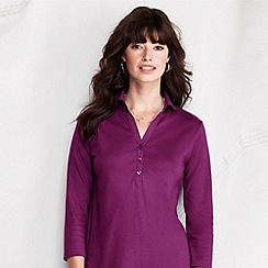 Lands' End - Purple women's pima jersey/poplin tunic