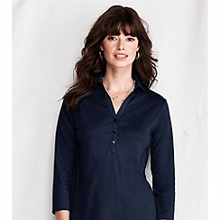 Lands' End - Blue women's pima jersey/poplin tunic