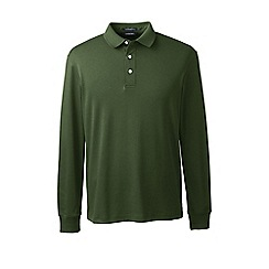 Lands' End - Green long sleeve supima polo