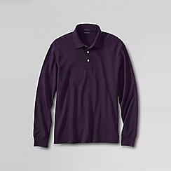 Lands' End - Purple men's long sleeve supima polo