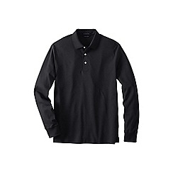 Lands' End - Black tall  long sleeve supima polo