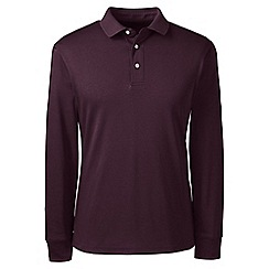 Lands' End - Red long sleeve supima polo