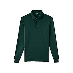 Lands' End - Green tall long sleeve supima rugby shirt