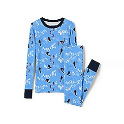 Lands' End - Blue boys snug fit cotton pyjamas