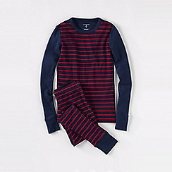 Lands' End - Blue boys' snug-fit cotton pyjamas