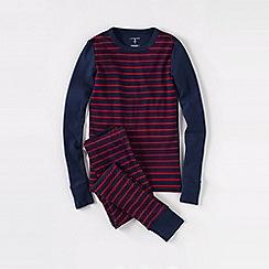 Lands' End - Blue snug-fit cotton pyjamas