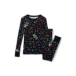 Lands' End - Boys' black snug fit cotton pyjamas