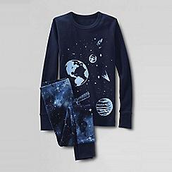 Lands' End - Blue boys' snug-fit cotton pyjamas