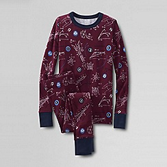 Lands' End - Red boys' snug-fit cotton pyjamas