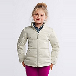Lands' End - Cream girls' down jacket