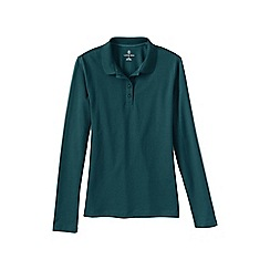Lands' End - Green sporty long sleeved pique polo
